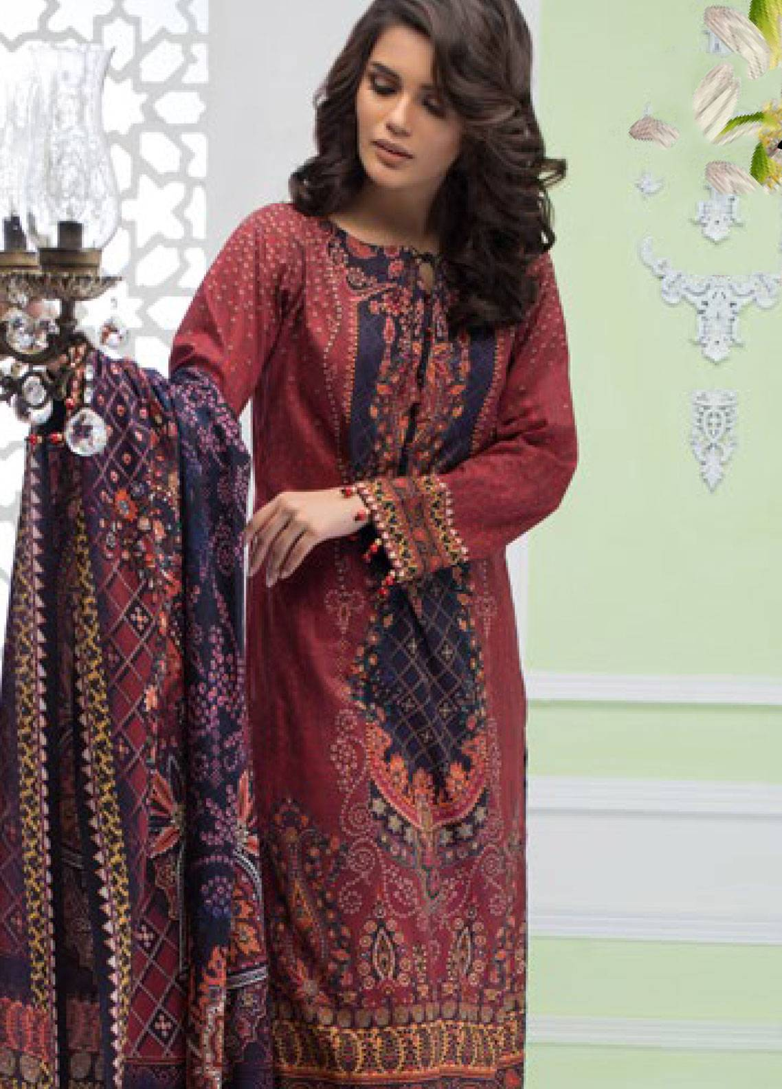 Malhar Printed Lawn Unstitched 3 Piece Suit ML19PL 39A - Spring / Summer Collection