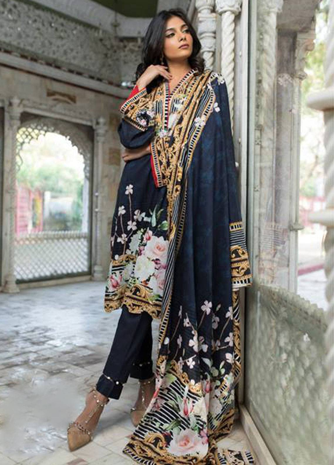 Malhar Printed Lawn Unstitched 3 Piece Suit ML19PL 71B - Spring / Summer Collection
