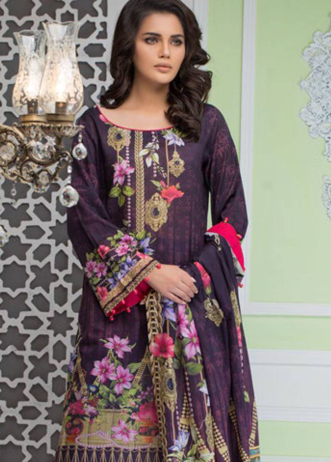 Malhar Printed Lawn Unstitched 3 Piece Suit ML19PL 72A - Spring / Summer Collection