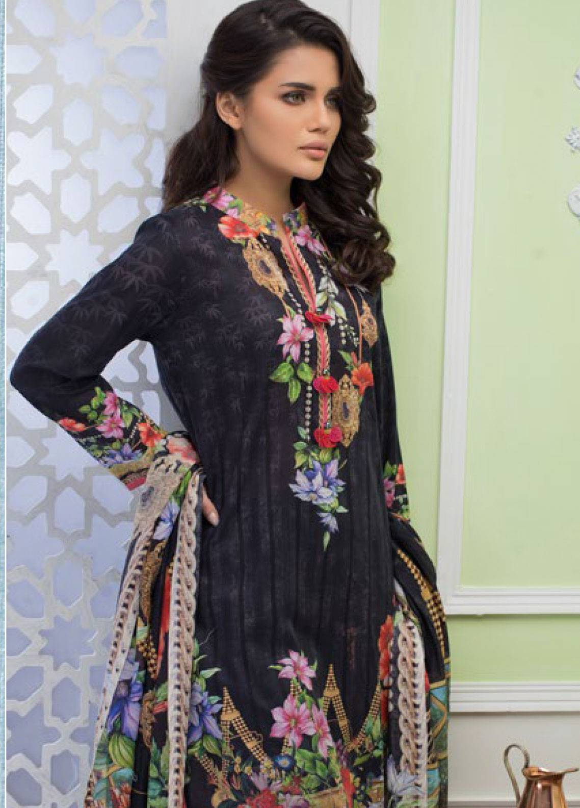 Malhar Printed Lawn Unstitched 3 Piece Suit ML19PL 72B - Spring / Summer Collection