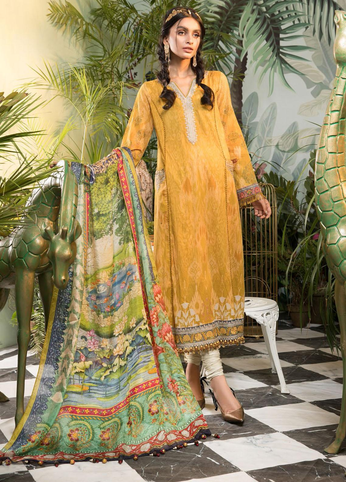Mprints By Maria B Printed Lawn Suits Unstitched 3 Piece MB21-MP2 1104-A - Summer Collection