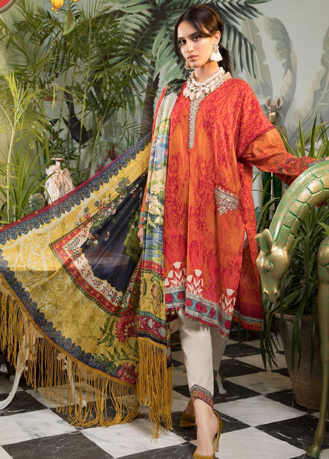 Mprints By Maria B Printed Lawn Suits Unstitched 3 Piece MB21-MP2 1104-B - Summer Collection