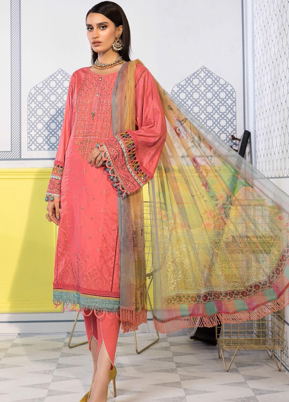 Mprints By Maria B Printed Lawn Suits Unstitched 3 Piece MB21-MP2 1107-A - Summer Collection
