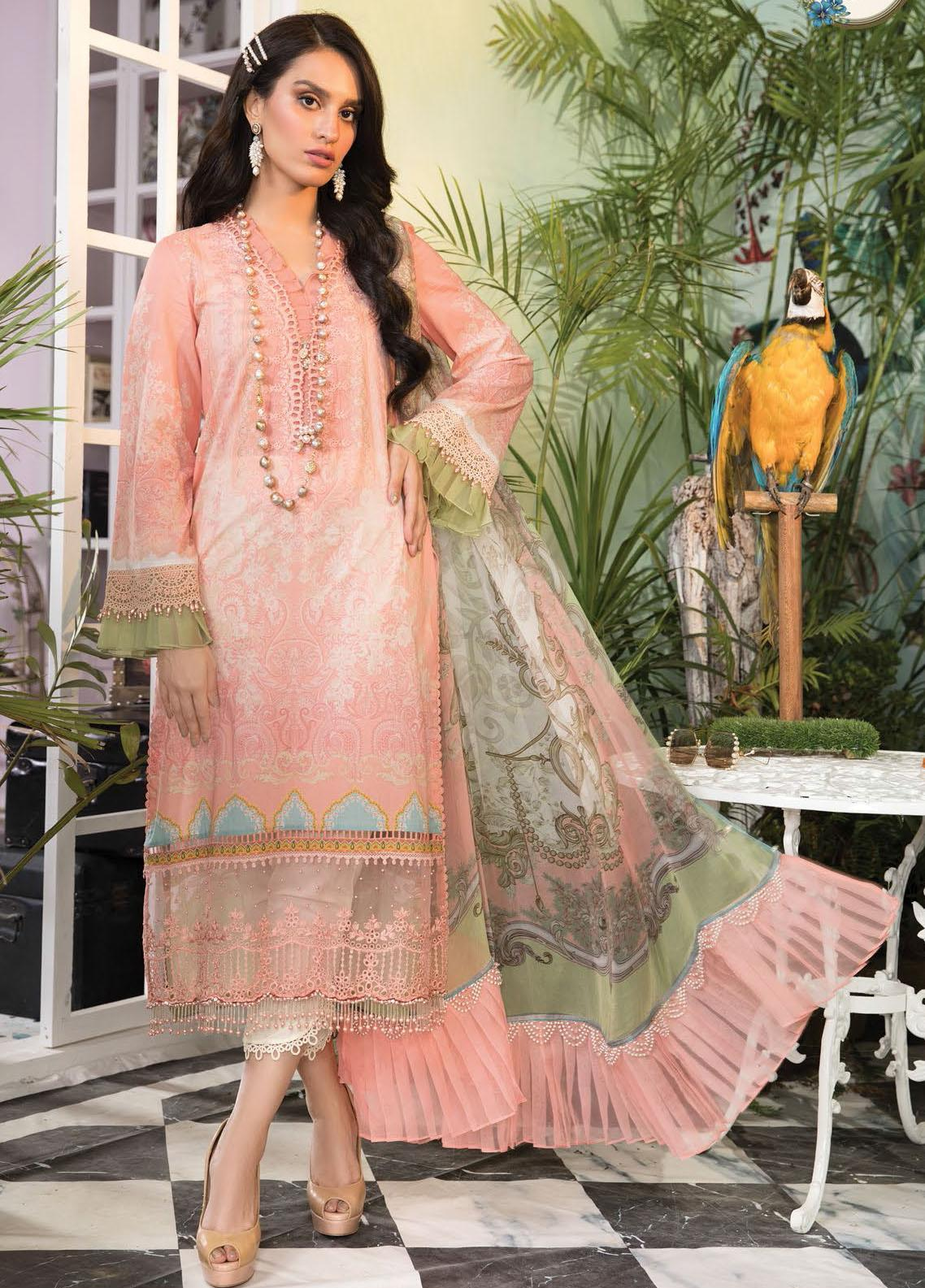 Mprints By Maria B Printed Lawn Suits Unstitched 3 Piece MB21-MP2 1108-B - Summer Collection