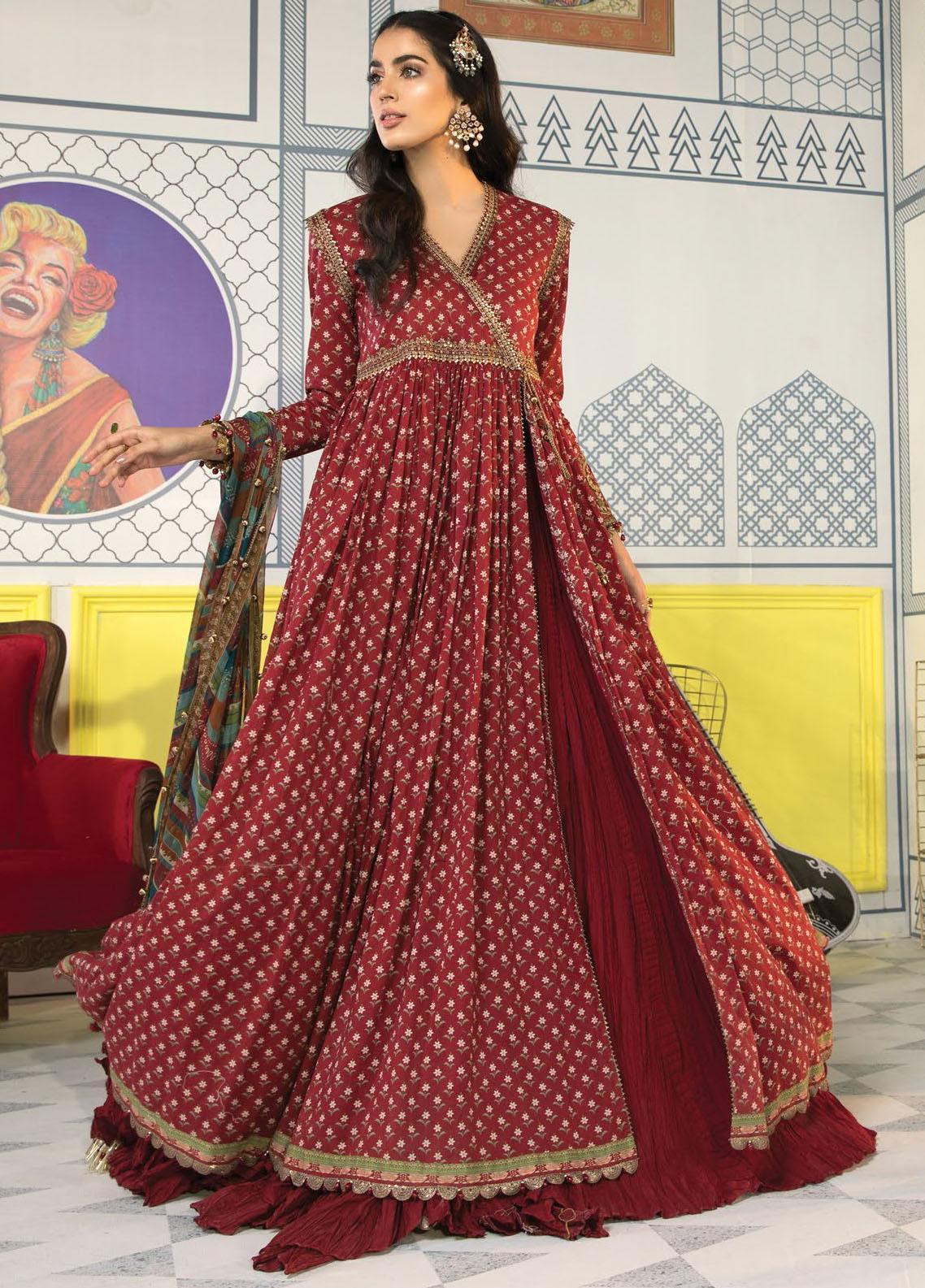 Mprints By Maria B Printed Lawn Suits Unstitched 3 Piece MB21-MP2 1109-B - Summer Collection