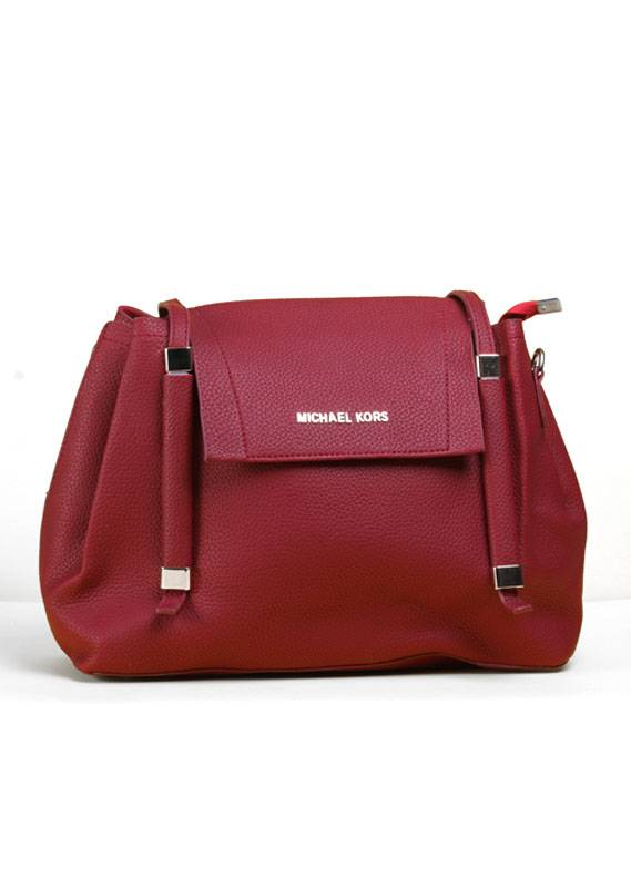 PU Leather Duffle Handbags for Women - Maroon with  , Clasp