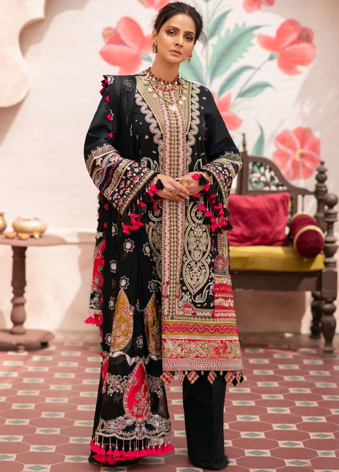 Maryam Hussain Embroidered Lawn Suits Unstitched 3 Piece MRH21LL 05-Jahanara - Festive Collection