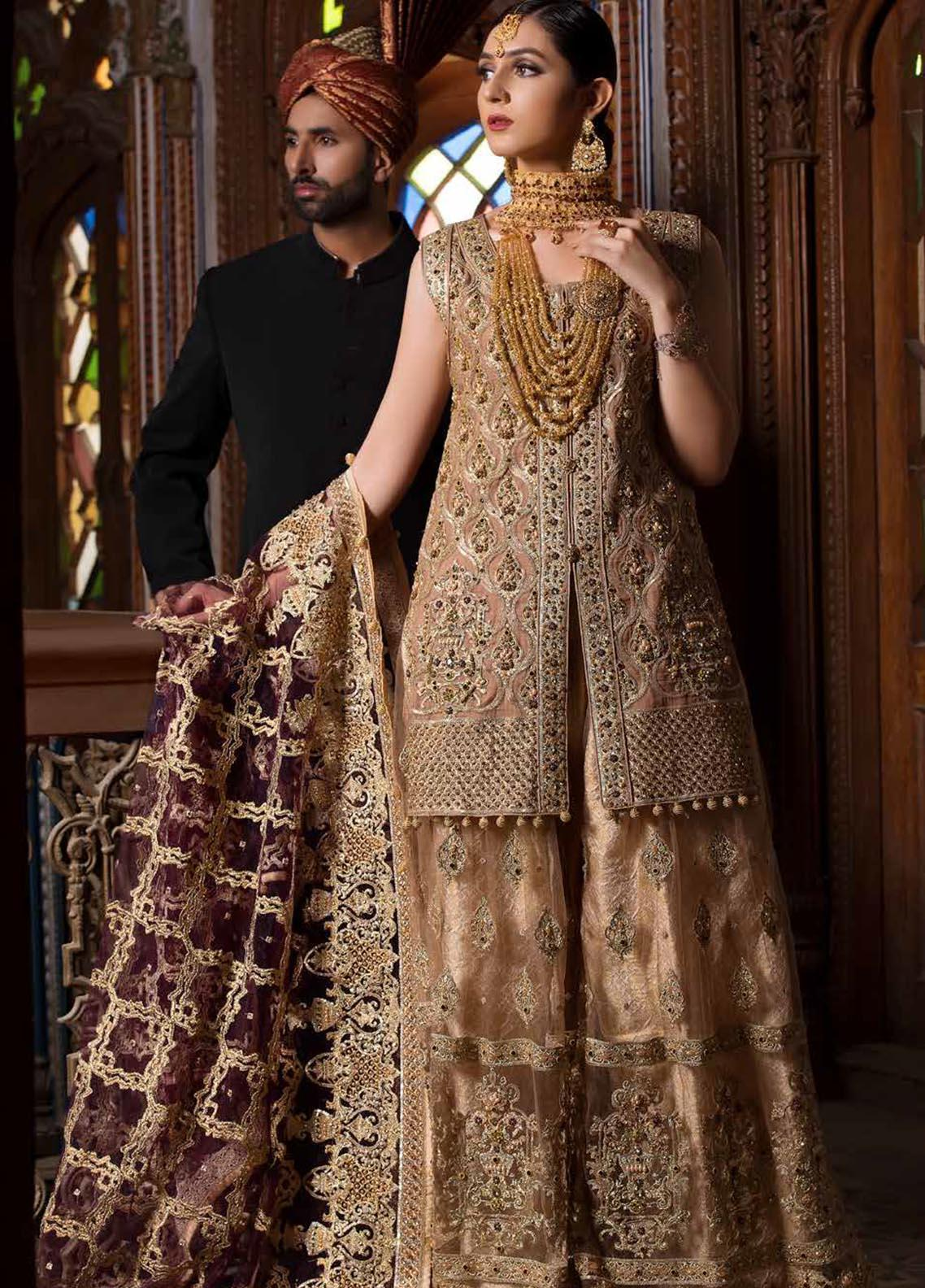 Maryum N Maria Embroidered Chiffon Unstitched 3 Piece Suit MNM19B 01 - Bridal Collection