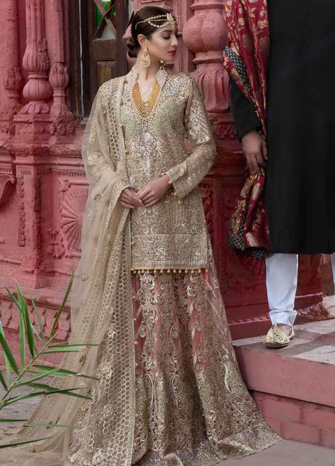 Maryum N Maria Embroidered Chiffon Unstitched 3 Piece Suit MNM19B 03 - Bridal Collection