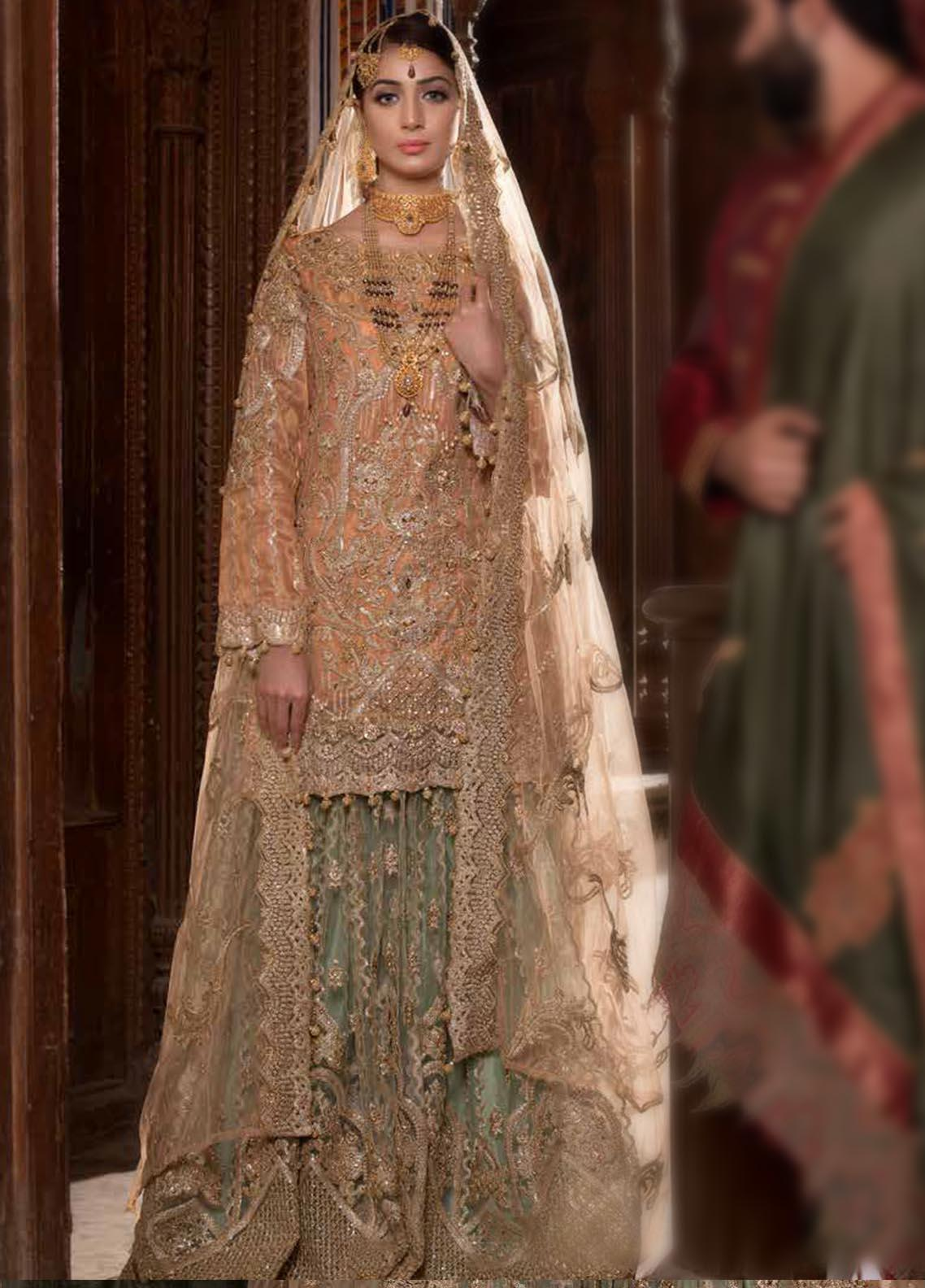 Maryum N Maria Embroidered Chiffon Unstitched 3 Piece Suit MNM19B 05 - Bridal Collection