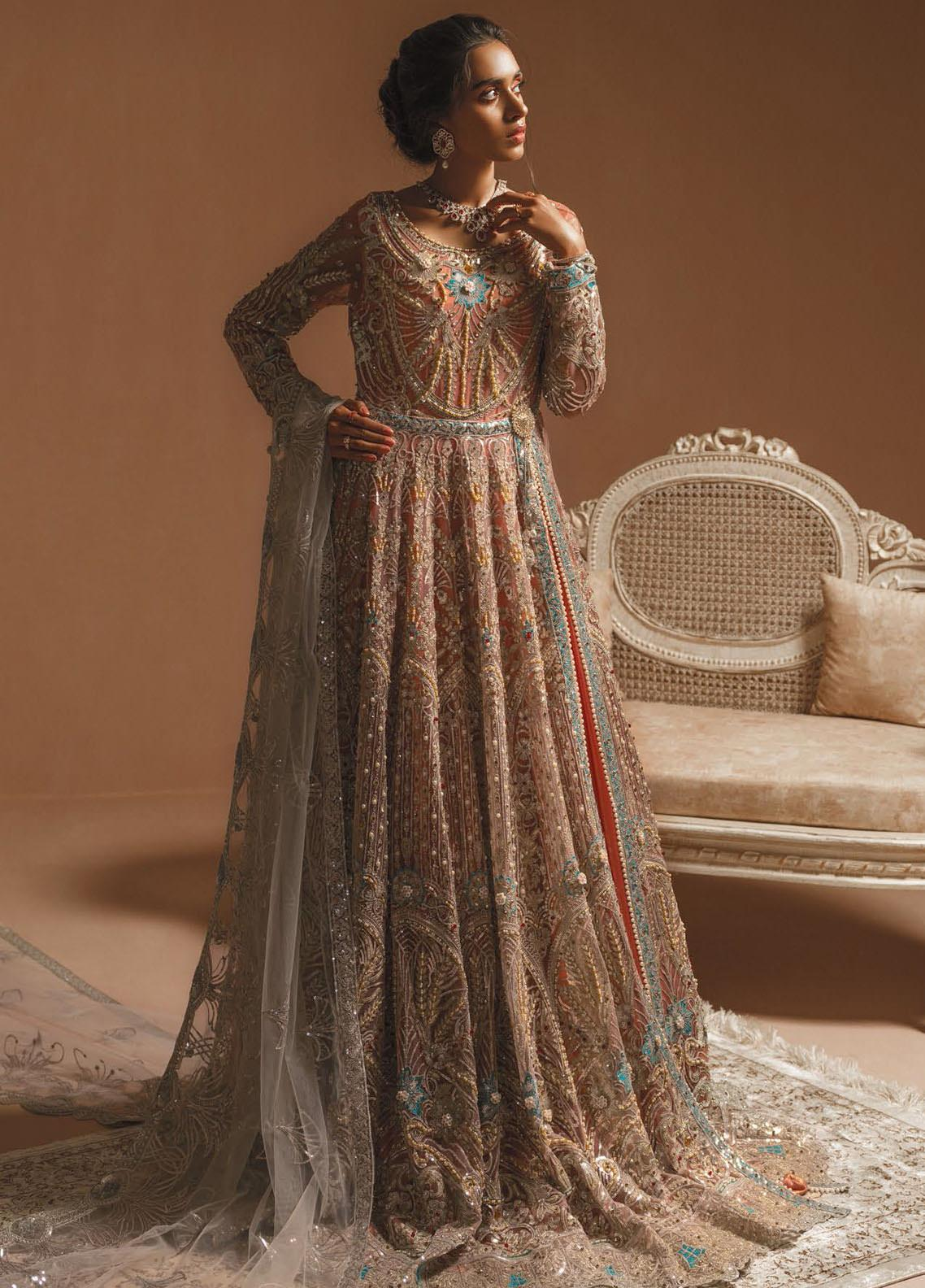 Maryum N Maria Embroidered Net Unstitched 3 Piece Suit MNM20HB 04 Myjest Pearls - Bridal Collection