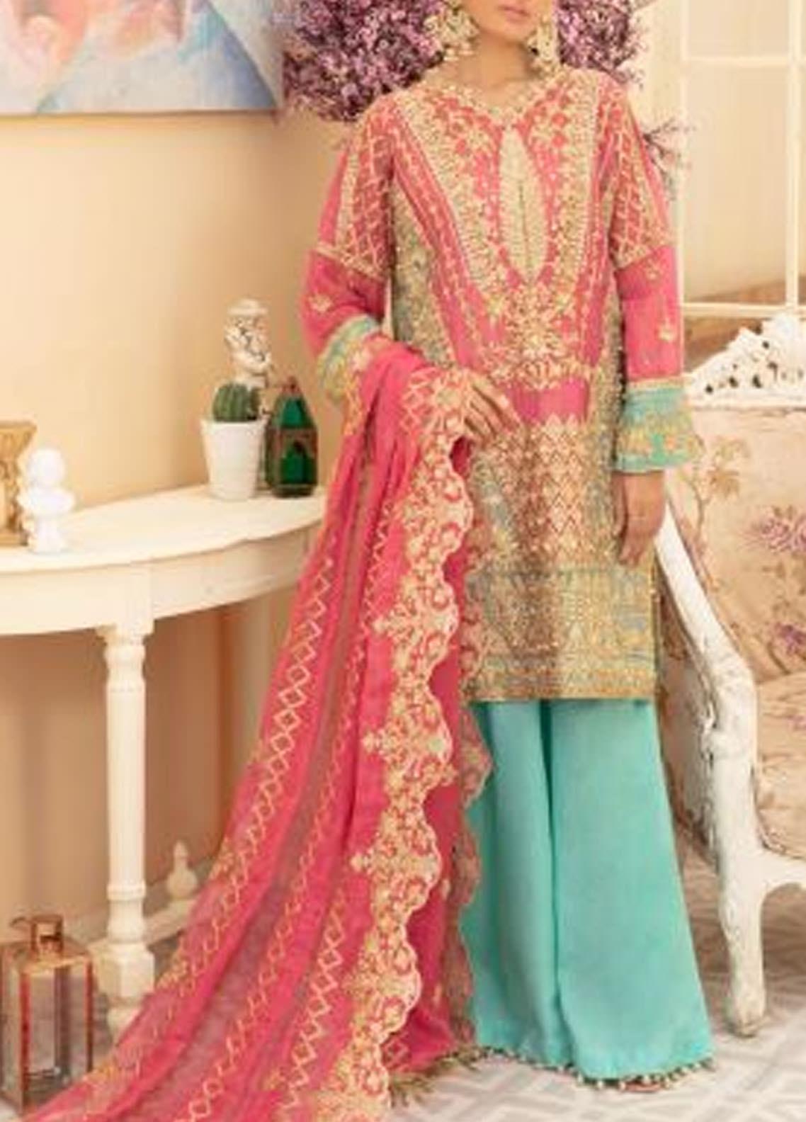Maryum N Maria Embroidered Missouri Unstitched 3 Piece Suit MNM20C 02 DREAM DALE - Premium Collection