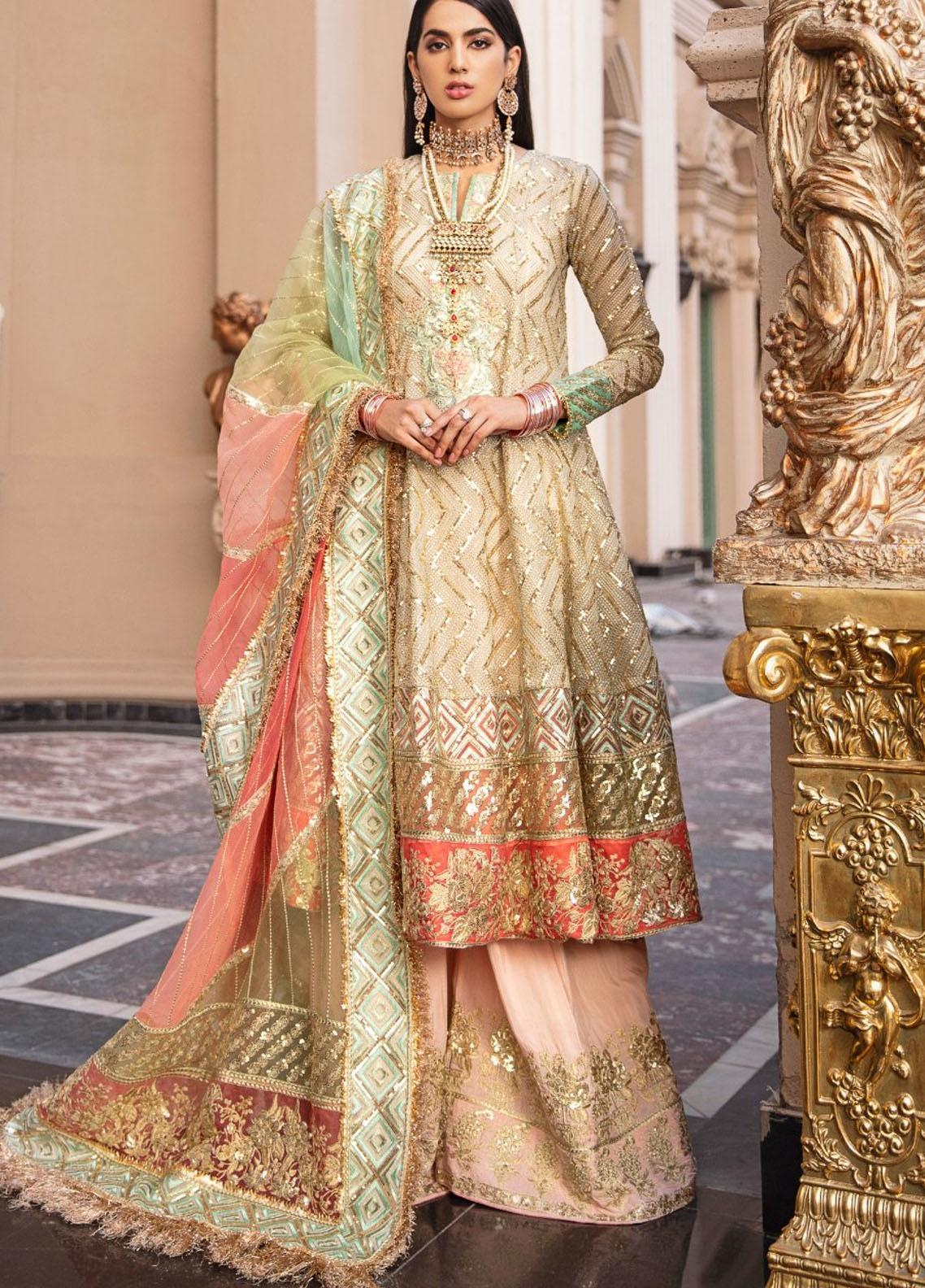 Maryum N Maria Embroidered Organza Unstitched 3 Piece Suit MNM20WD 03 Star Ferry - Wedding Collection