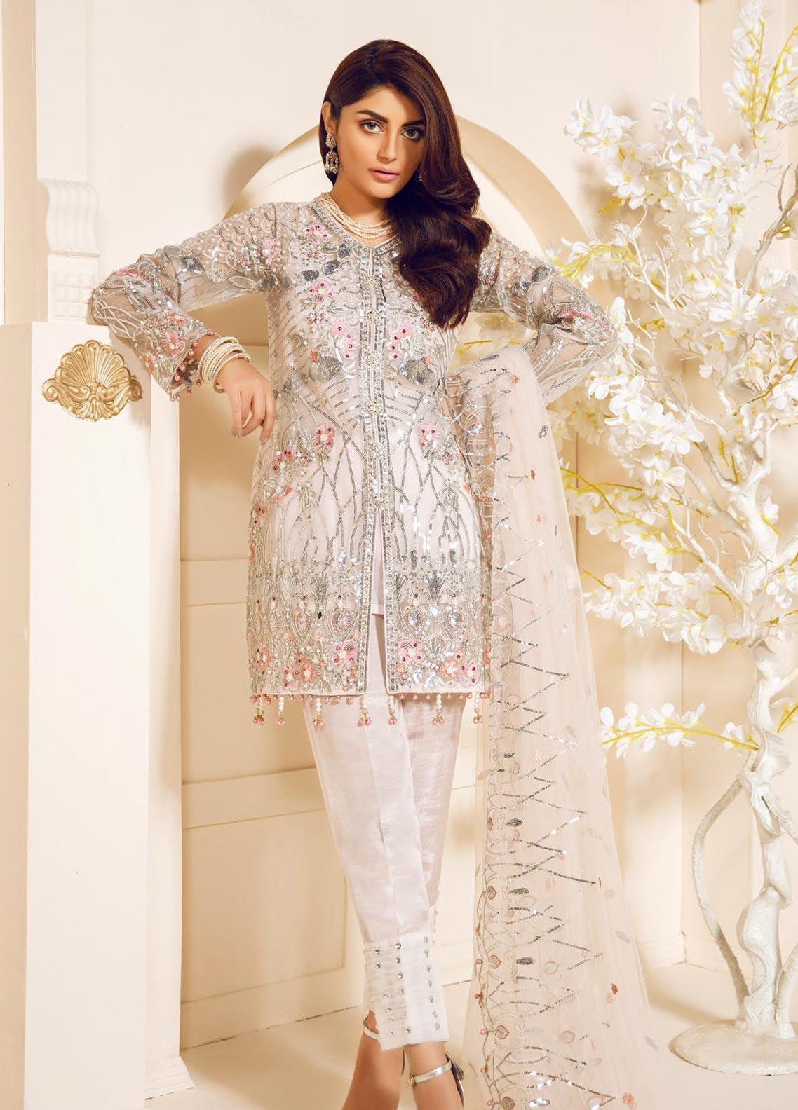 Mashq Embroidered Organza Unstitched 3 Piece Suit MAQ19C 7 LOREM LPSUM - Premium Collection