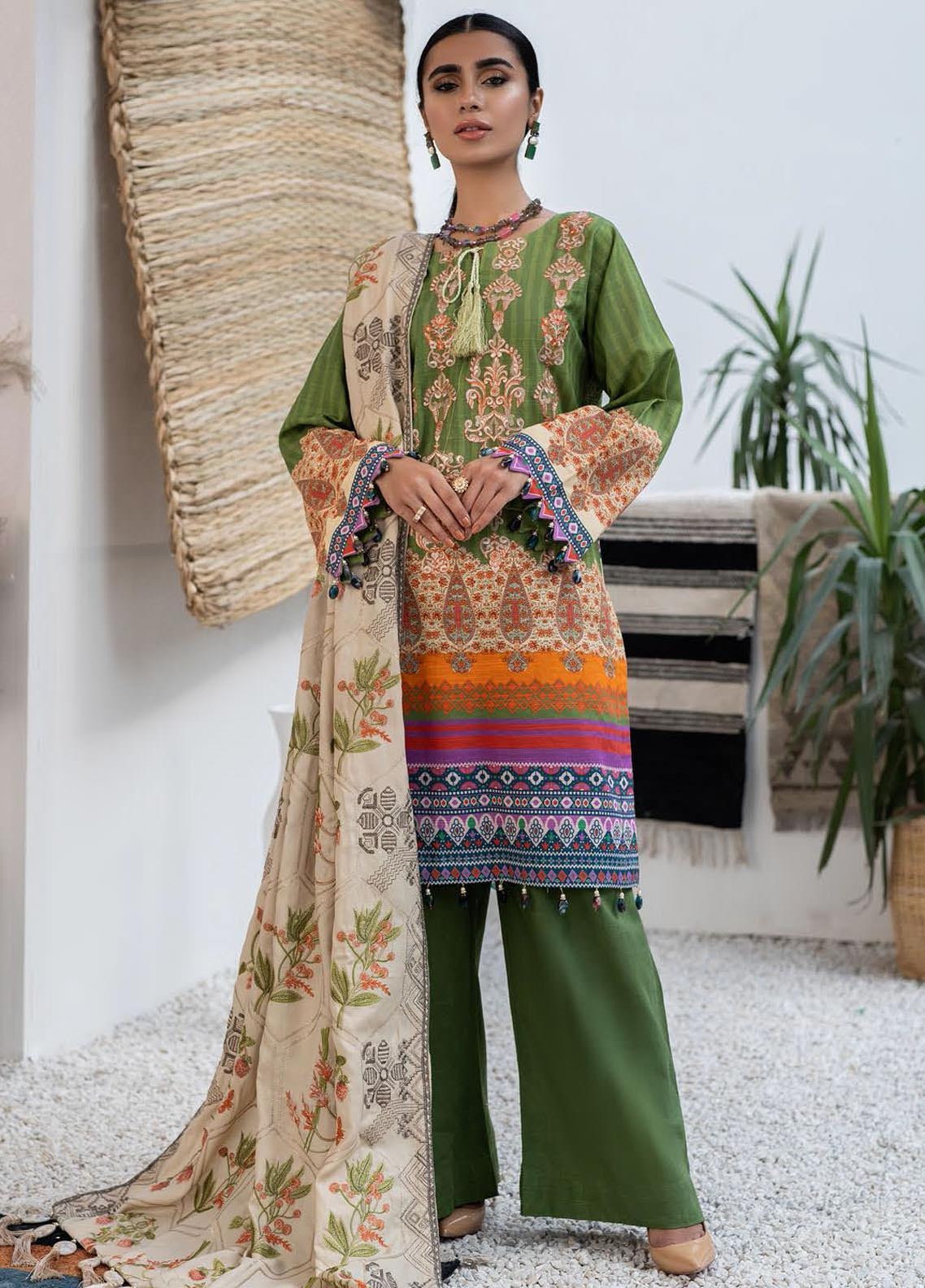 Maya by Nureh Embroidered Khaddar Unstitched 3 Piece Suit N20-W2 10 - Winter Collection