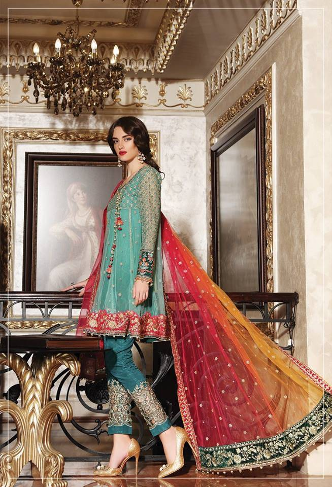 Maria B Embroidered Chiffon Unstitched 3 Piece Suit MB17C 03