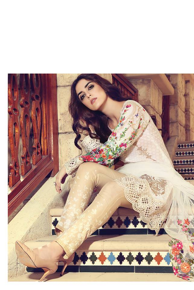 Maria B Embroidered Lawn Unstitched 3 Piece Suit MB17L 12A