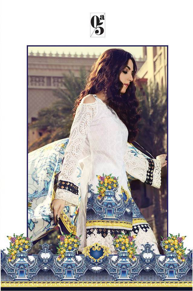 Maria B Embroidered Lawn Unstitched 3 Piece Suit MB17L 5A
