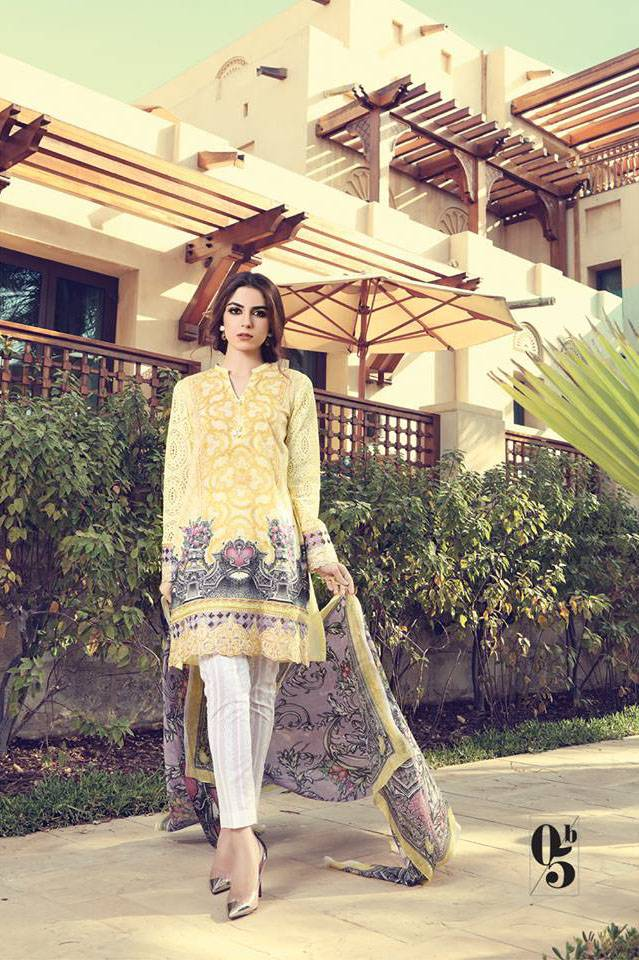 Maria B Embroidered Lawn Unstitched 3 Piece Suit MB17L 5B