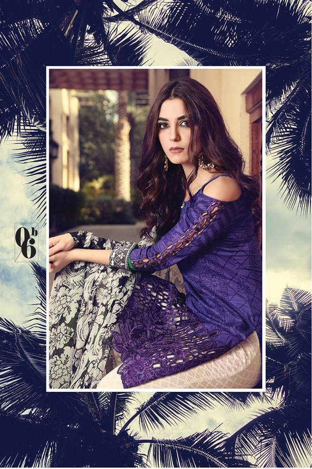 Maria B Embroidered Lawn Unstitched 3 Piece Suit MB17L 6B