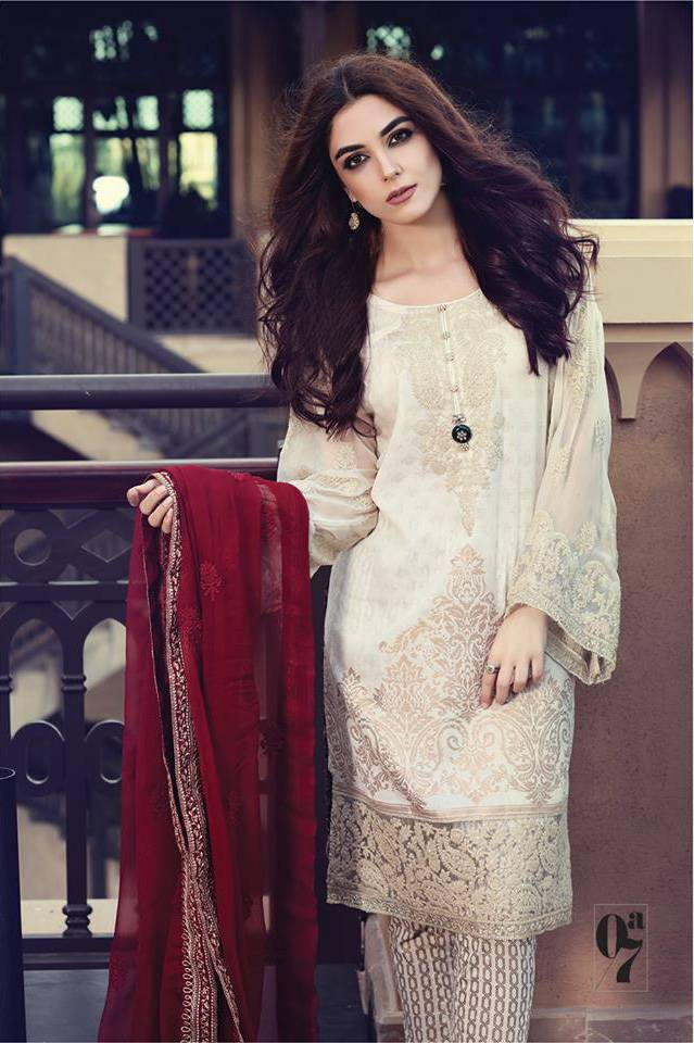 Maria B Embroidered Lawn Unstitched 3 Piece Suit MB17L 7A