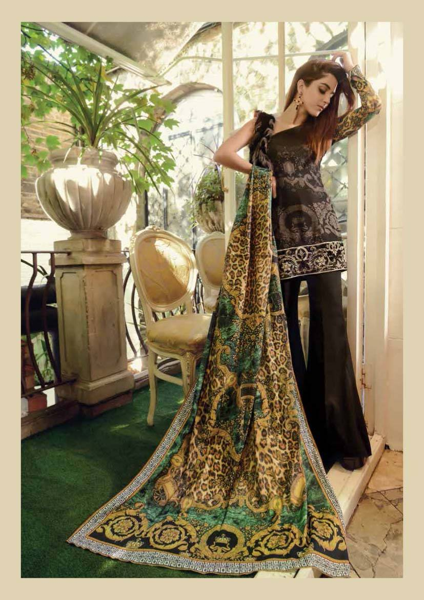 Maria B Embroidered Marina Unstitched 3 Piece Suit MB17W 03