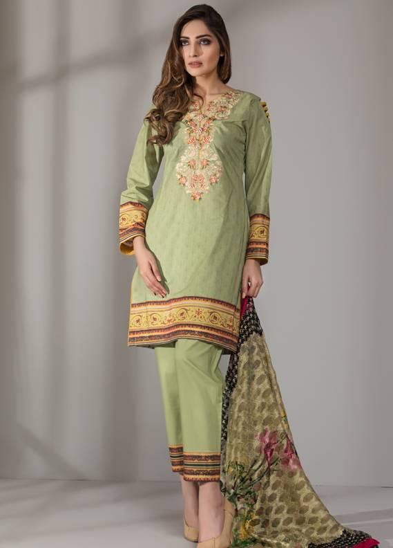 Mahrukh By ZS Embroidered Cotton Unstitched 3 Piece Suit ME18D 10