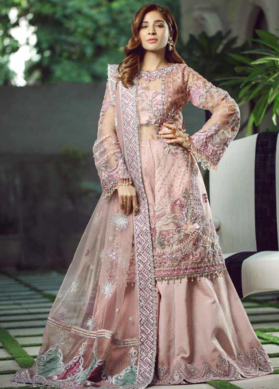 Meer by Maryam Hussain Embroidered Net Unstitched 3 Piece Suit MRH19W HAYAAT - Wedding Collection