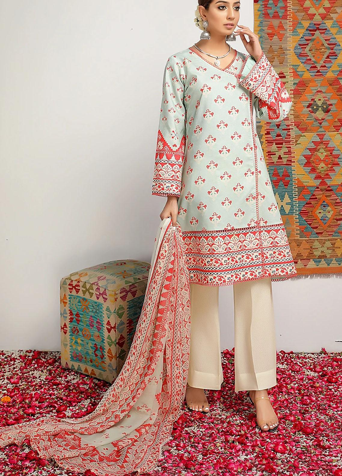 Meeral Printed Lawn Suits Unstitched 3 Piece MRL21-L2 09 Amber Queen - Summer Collection