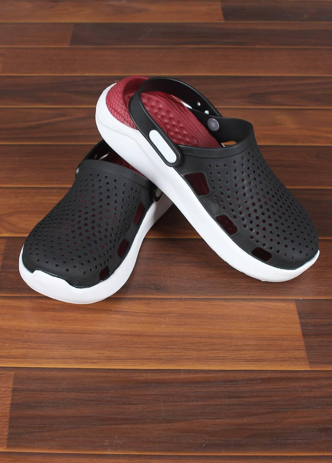 Sanaulla Exclusive Range  Rubber Slippers For Men 806 Black