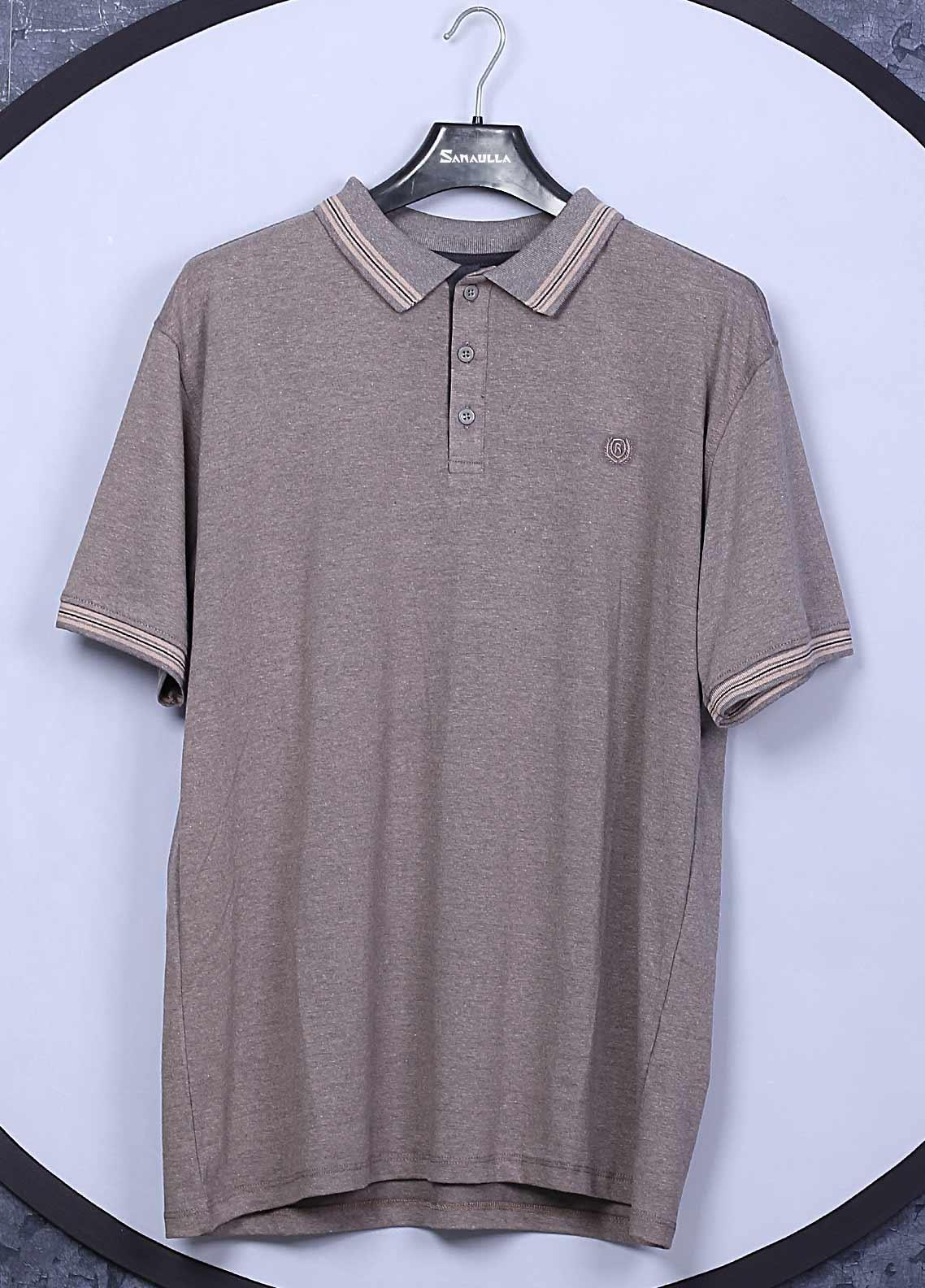 Sanaulla Exclusive Range Cotton Casual Men T-Shirts -  5148 Brown