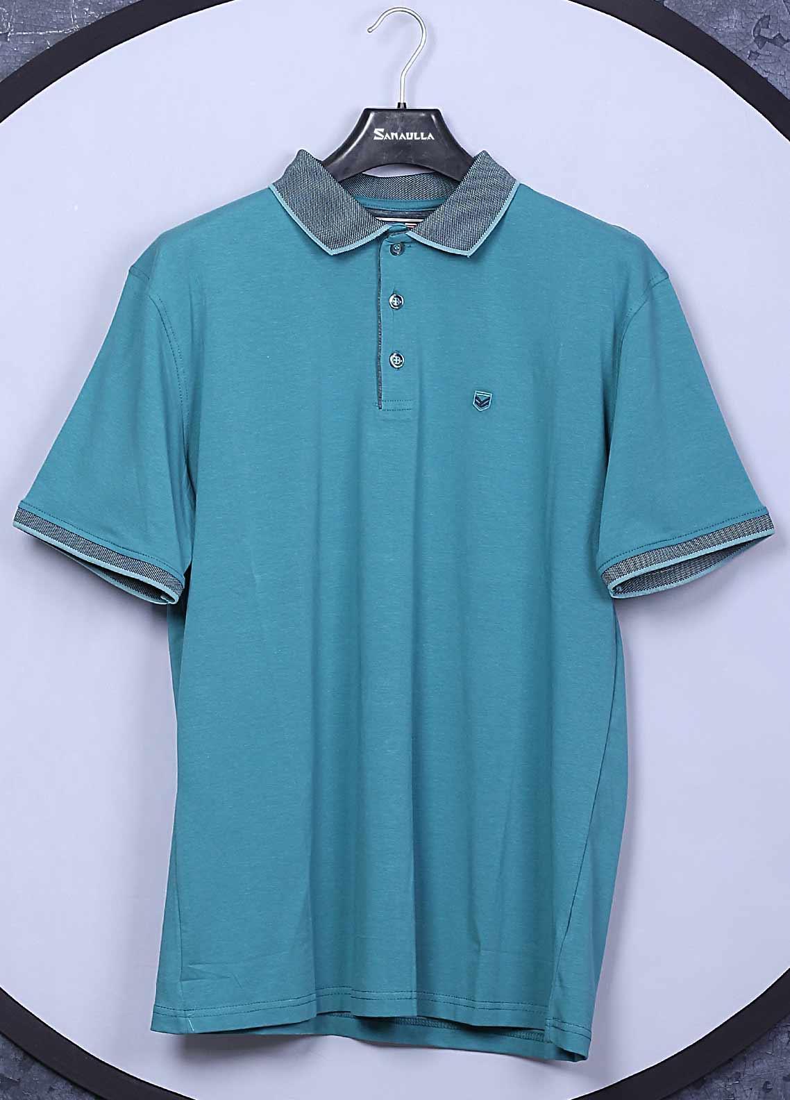 Sanaulla Exclusive Range Cotton Casual T-Shirts for Men -  5306 Sea Green