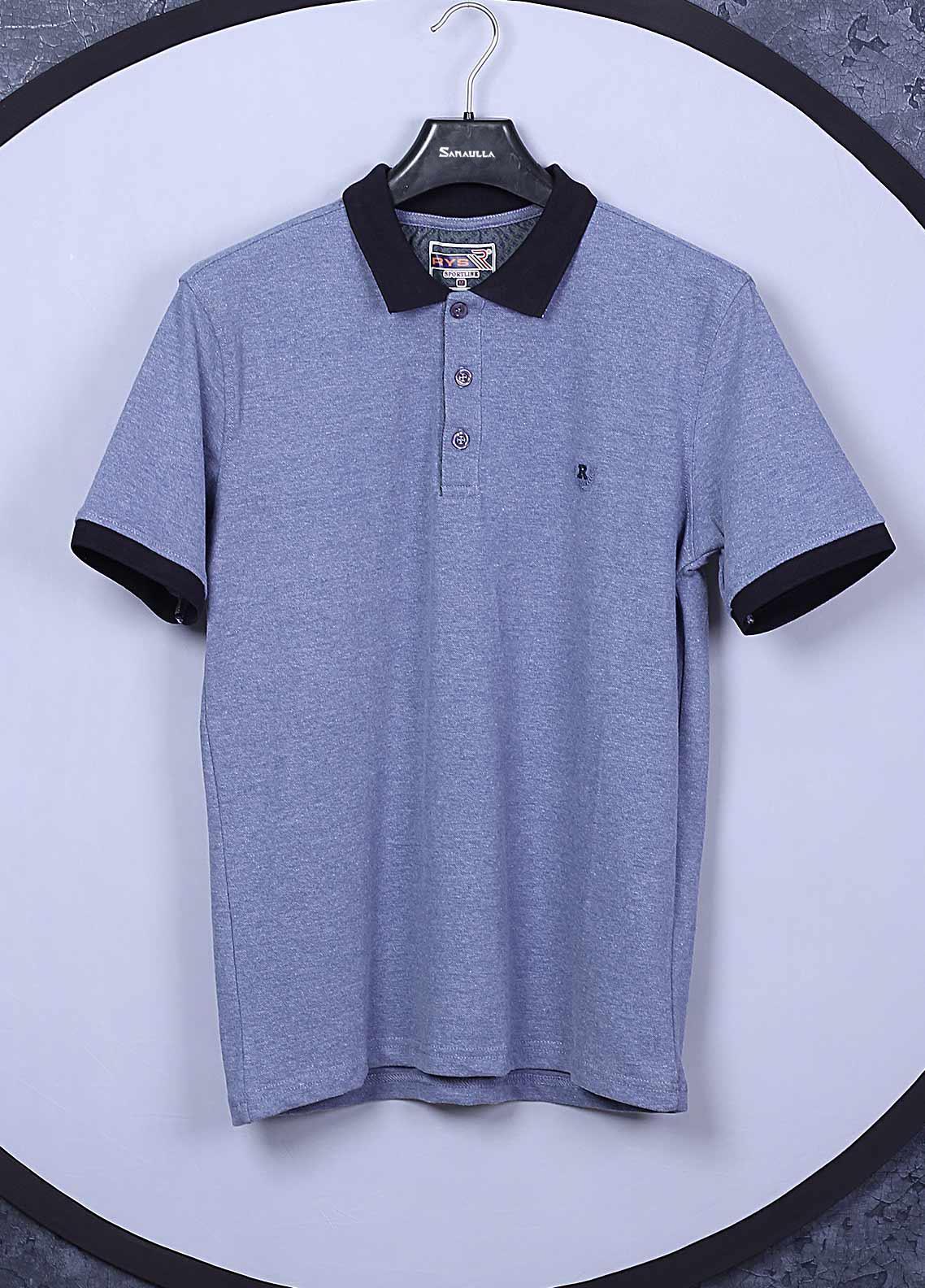 Sanaulla Exclusive Range Cotton Casual T-Shirts for Mens -  5326 Sky Blue