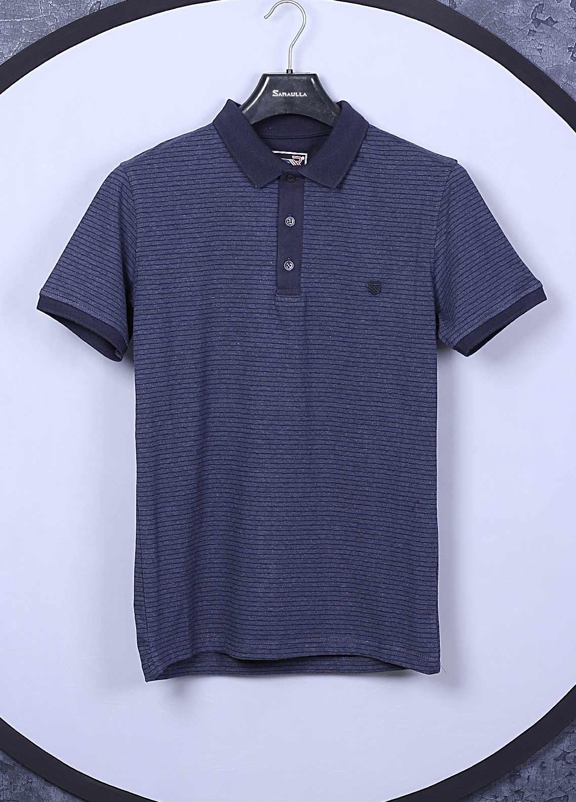 Sanaulla Exclusive Range Cotton Casual Mens T-Shirts -  5351 Blue