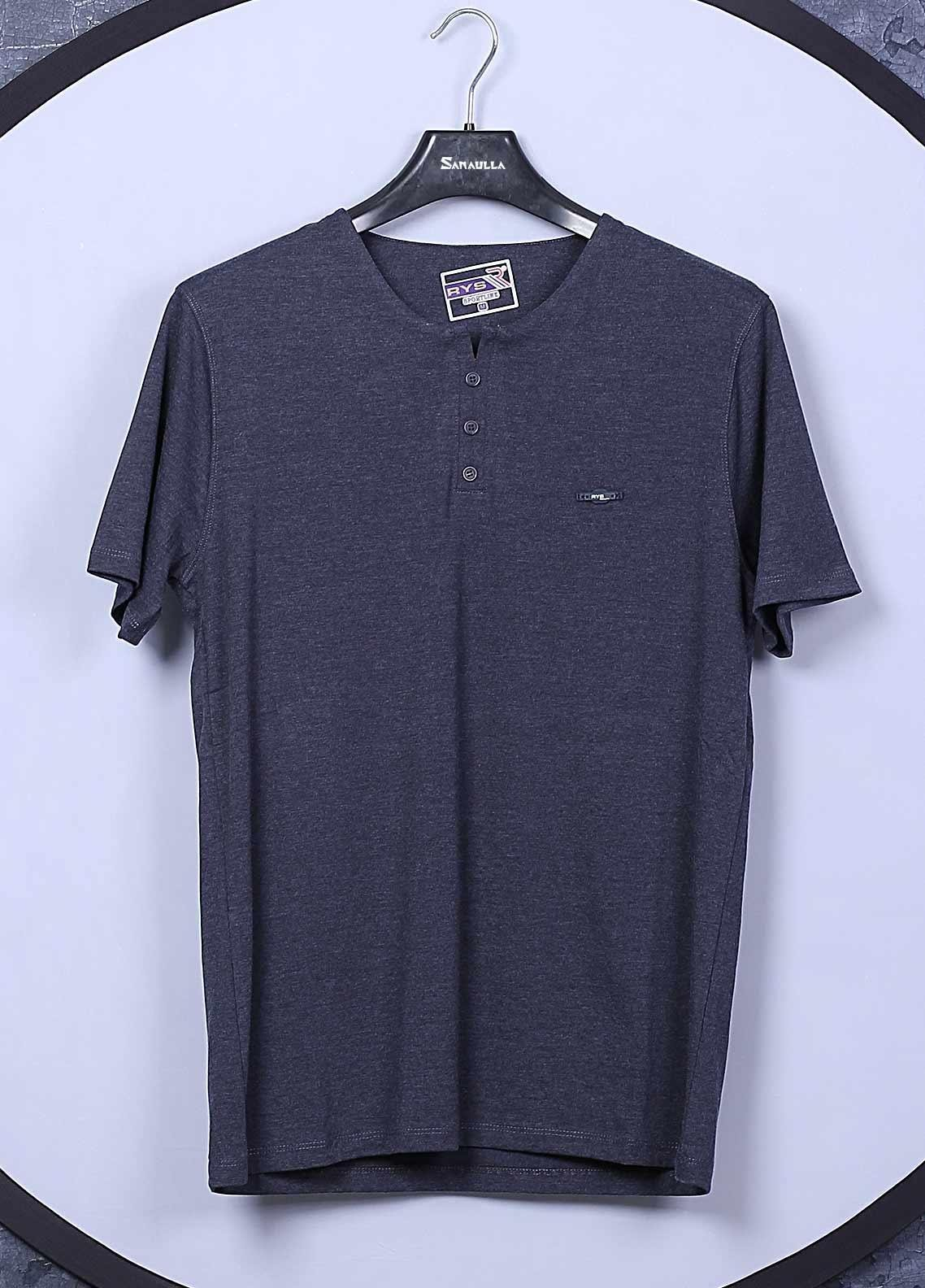 Sanaulla Exclusive Range Cotton Casual T-Shirts for Mens -  5622 Grey