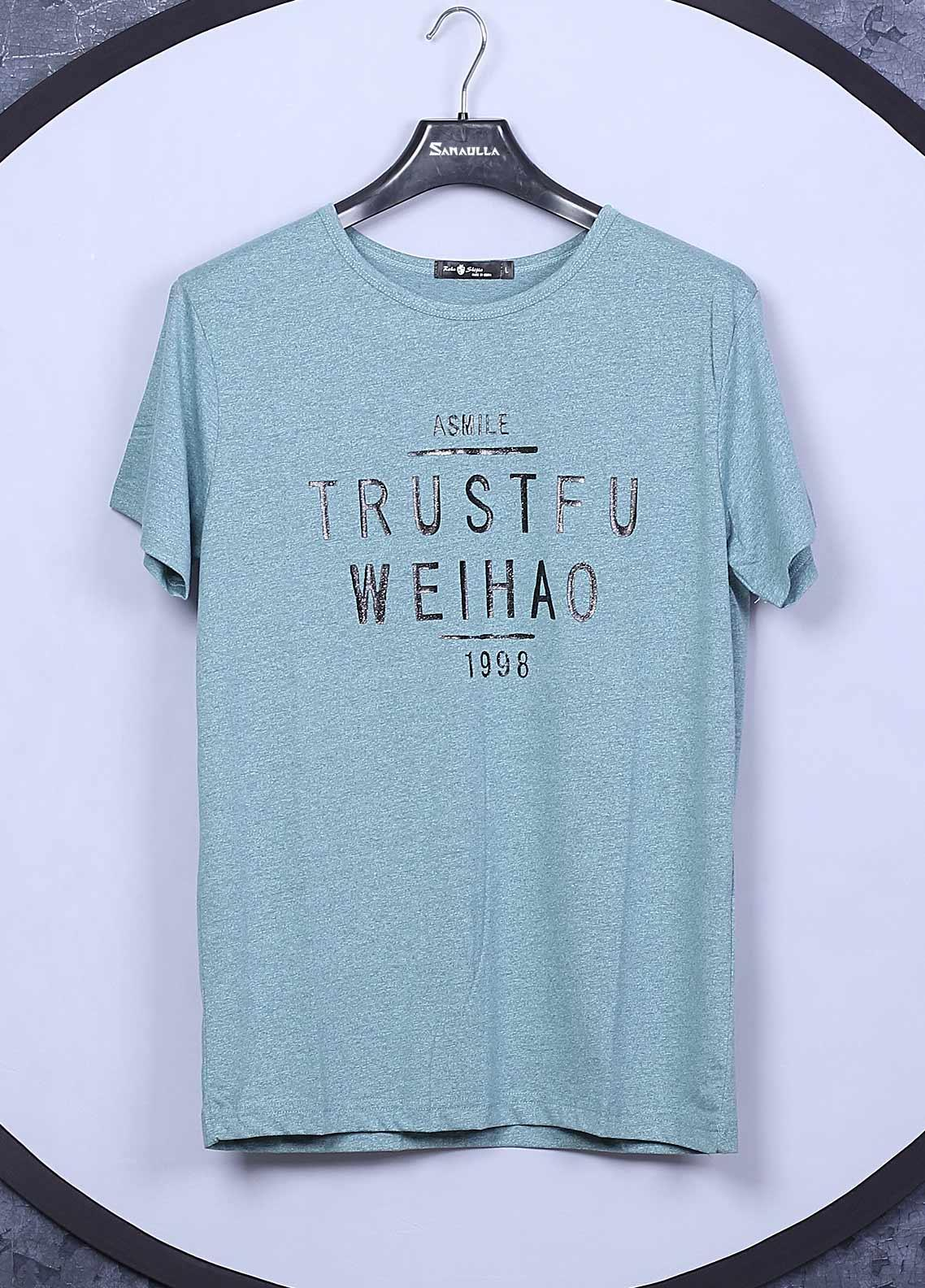 Sanaulla Exclusive Range Cotton Casual T-Shirts for Mens -  78323 Ferozi