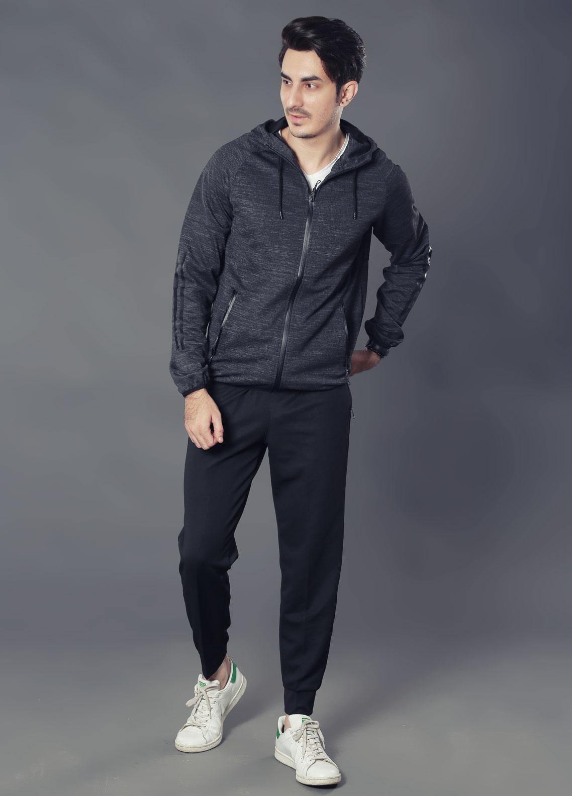 Sanaulla Exclusive Range Premium Jersey Track Men Suits -  19-89556 Dark Grey