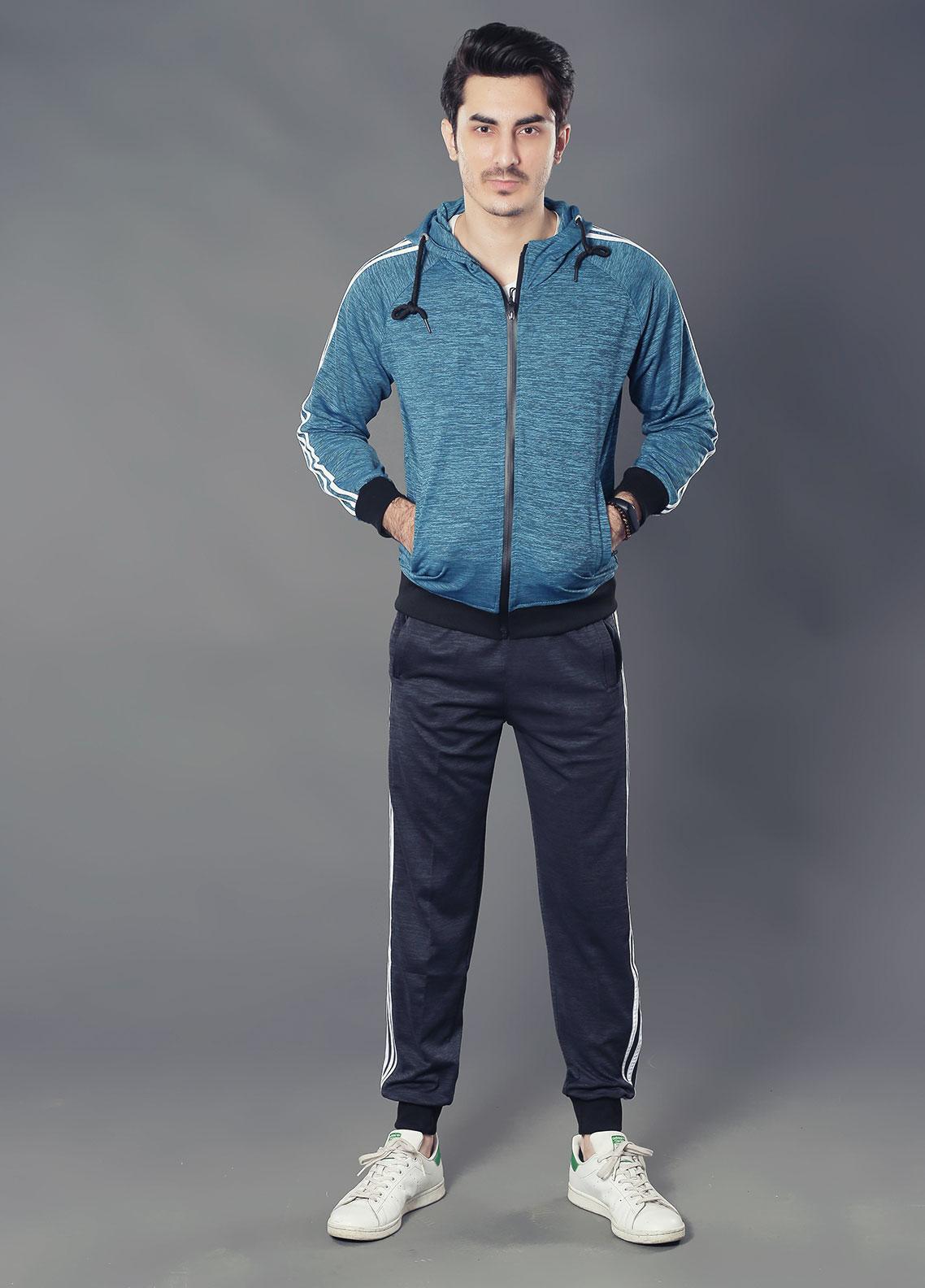 Sanaulla Exclusive Range Premium Jersey Track Suits for Men -  19-89556 Grey