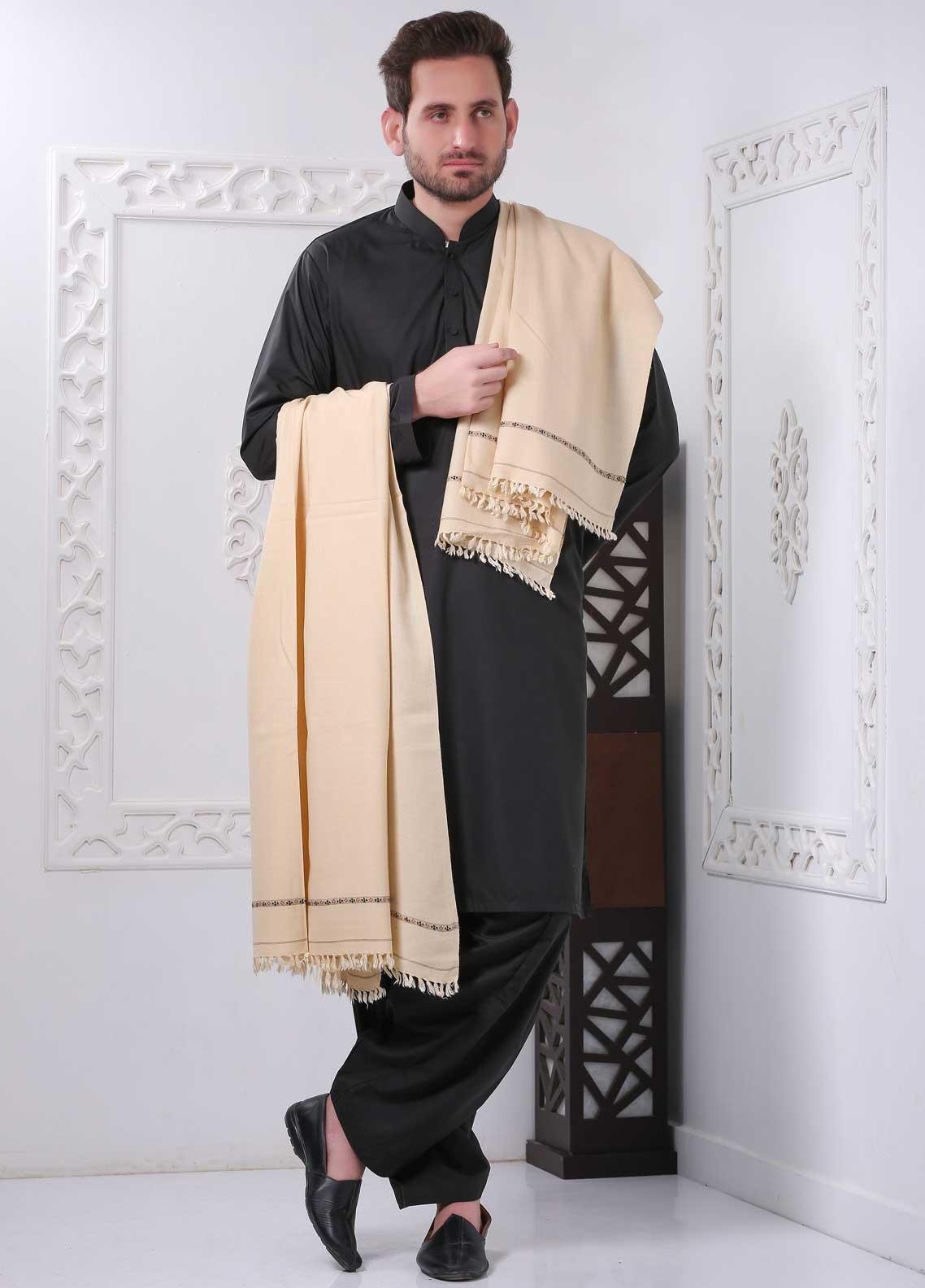 Sanaulla Exclusive Range Embroidered Pashmina  Shawl SU20MS 286921 - Pashmina Shawls