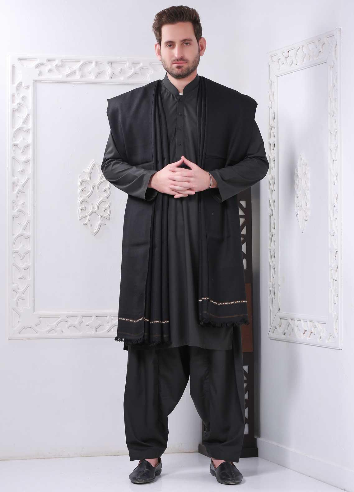 Sanaulla Exclusive Range Embroidered Pashmina  Shawl SU20MS 323256 - Pashmina Shawls