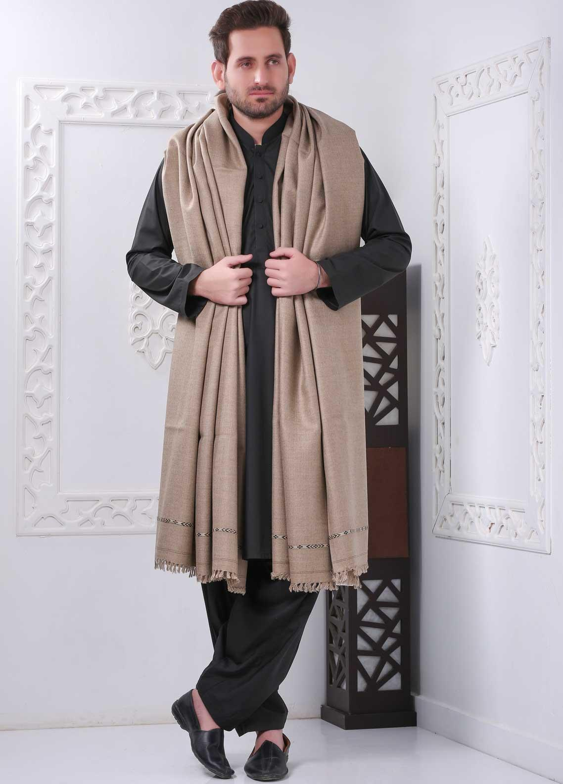 Sanaulla Exclusive Range Embroidered Pashmina  Shawl SU20MS 323258 - Pashmina Shawls