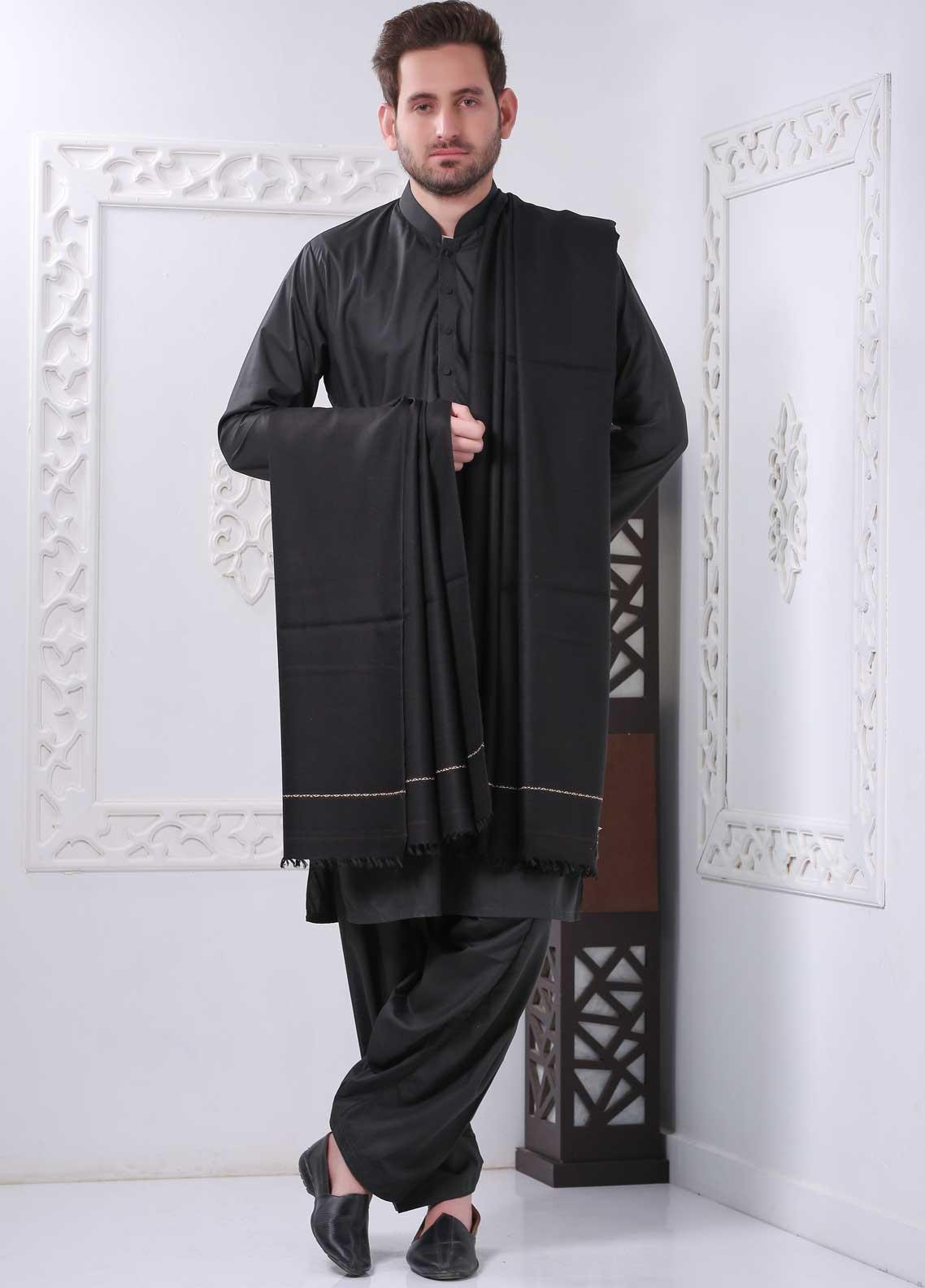 Sanaulla Exclusive Range Embroidered Pashmina  Shawl SU20MS 323283 - Pashmina Shawls