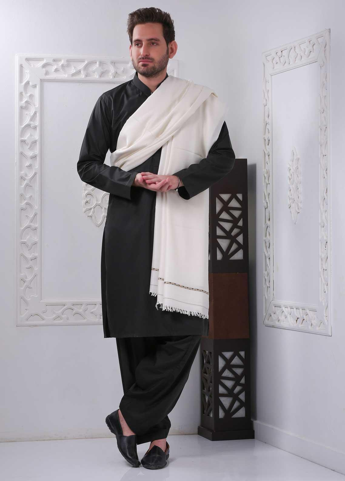 Sanaulla Exclusive Range Embroidered Pashmina  Shawl SU20MS 323284 - Pashmina Shawls