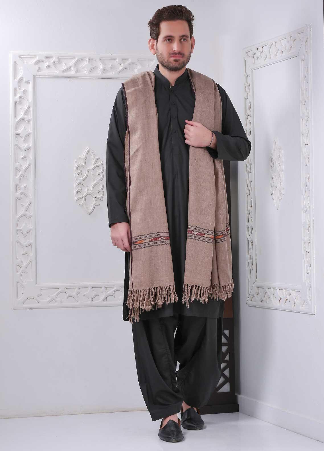 Sanaulla Exclusive Range Embroidered Pashmina  Shawl SU20MS 323906 - Pashmina Shawls