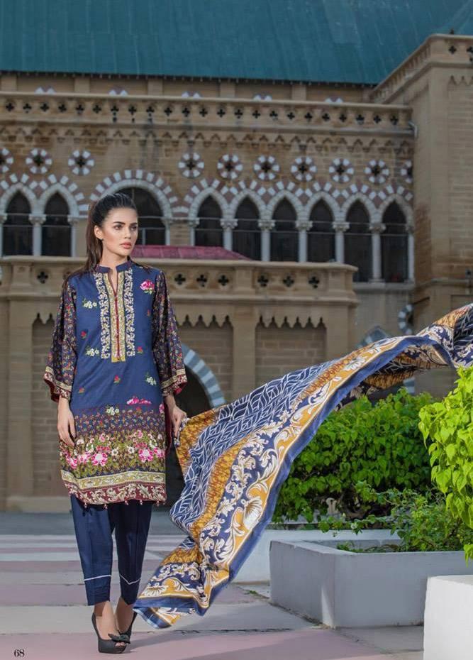Al Zohaib Printed Cotton Unstitched 3 Piece Suit MF17C 10A