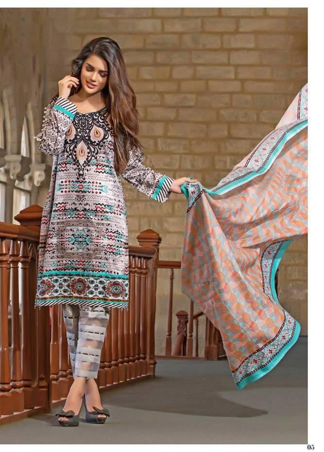 Al Zohaib Printed Cotton Unstitched 3 Piece Suit MF17C 1A