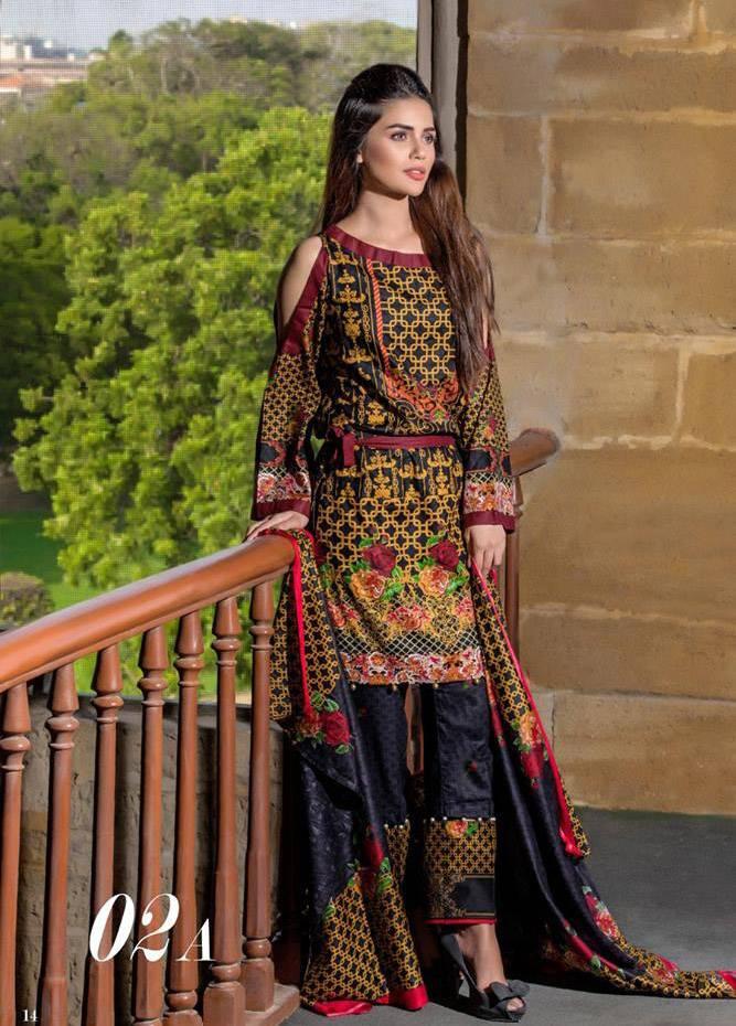 Al Zohaib Printed Cotton Unstitched 3 Piece Suit MF17C 2A
