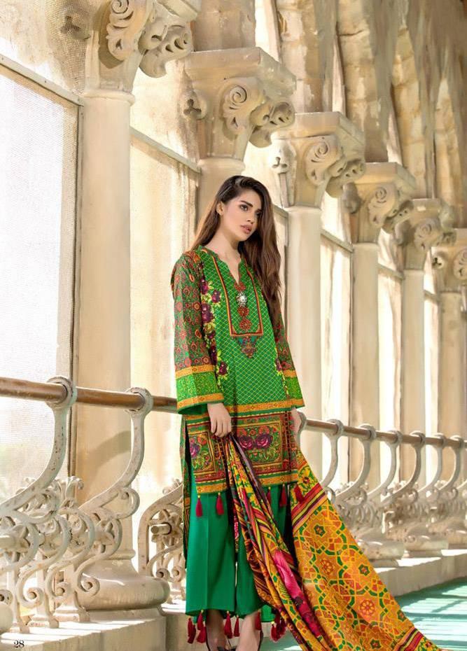 Al Zohaib Printed Cotton Unstitched 3 Piece Suit MF17C 4A