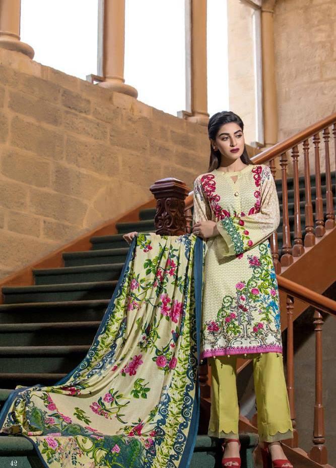 Al Zohaib Printed Cotton Unstitched 3 Piece Suit MF17C 6B