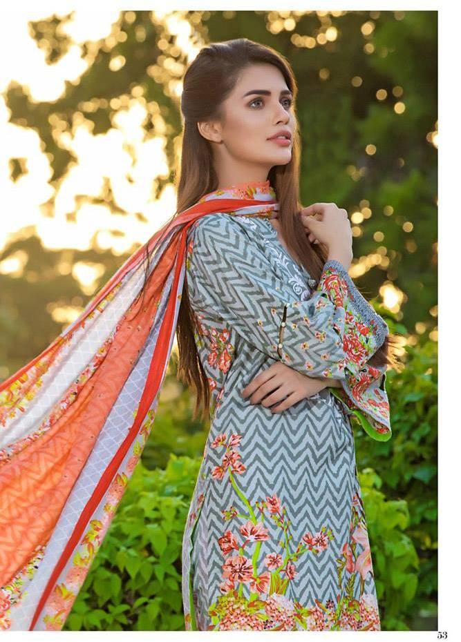Al Zohaib Printed Cotton Unstitched 3 Piece Suit MF17C 8A